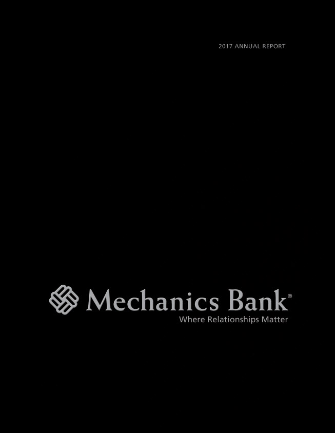 2017 Mechanics Bank Annual Report